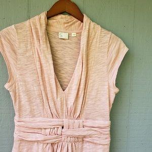 Postmark Anthro Blush Pink Weave Cap Sleeve Top M
